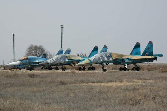 图文:苏-34战斗轰炸机群