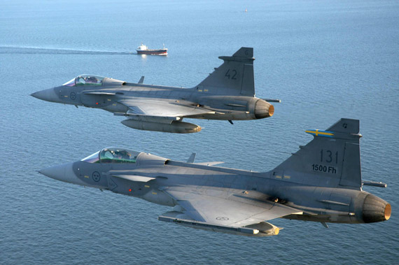 图文:瑞典可能把为空军生产的战机转给克罗地亚