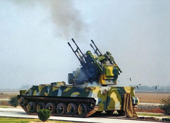 中国首次投入量产的自行防空系统是PGZ-95式