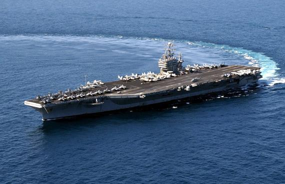图文:美国海军华盛顿号核动力航母将部署日本