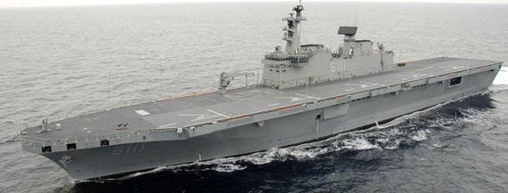 图文:韩国海军lph独岛级登陆舰