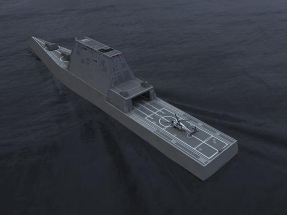 图文:美国海军未来DDG-1000战舰效果图