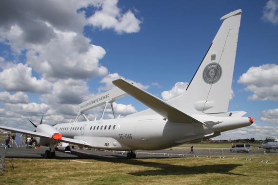 图文:萨博2000预警机机身后侧
