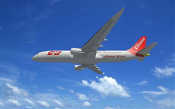 图文:国产大飞机cs2000想像图