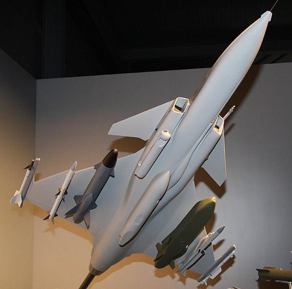 图文:JAS-39C鹰狮战机模型机载武器特写