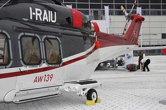 图文:AW139直升机机身后部