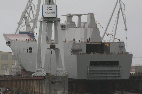西班牙胡安-卡洛斯一世号战略役送舰,是中国海军未来两栖攻击舰参照对象