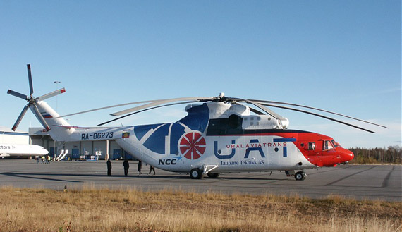 桨叶的大型直升机