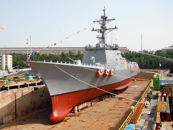 韩国第二艘KDX3舰11月下水配有32枚巡航导弹