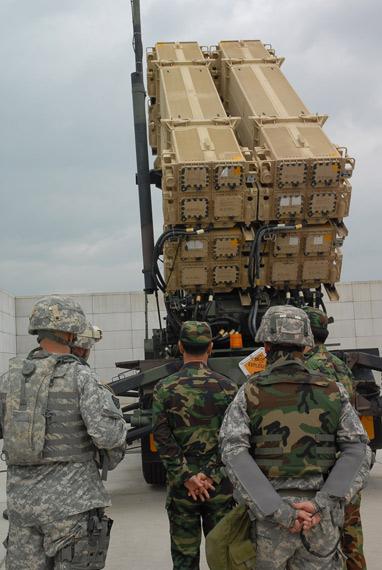 资料图:美国已在韩国部署爱国者-3反导拦截导弹