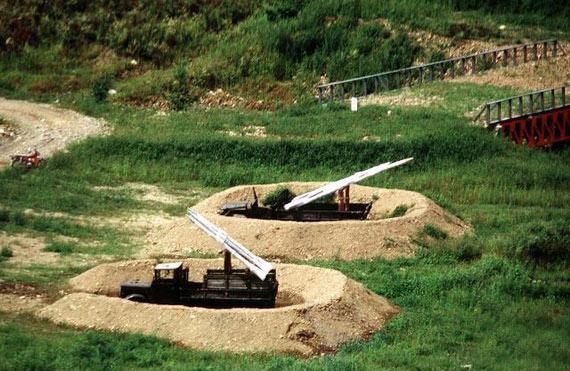 资料图:朝鲜人民军的防空导弹伪装阵地