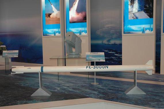 国产FL-3000N型舰载防空导弹(摄影:马俊)