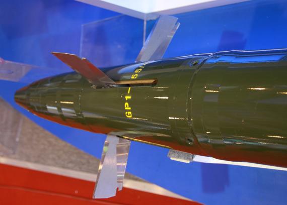 GP-1型激光制导炮弹弹头及小翼特写摄影:门广阔新浪独家图片,未经许可不得转载