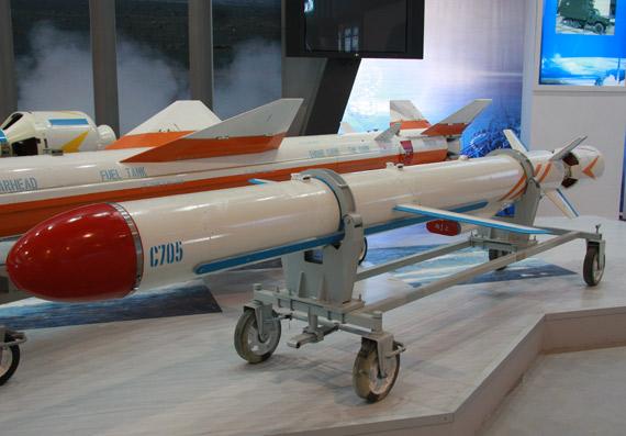 国产最新型C-705空射反舰导弹全弹特写 摄影:门广阔 新浪独家图片,未经许可不得转载。