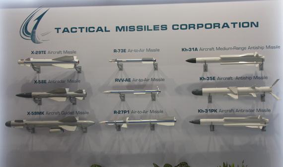 苏霍伊展出的苏-35战机用的各型空空-空地导弹模型摄影:门广阔新浪独家图片,未经许可不得转载。