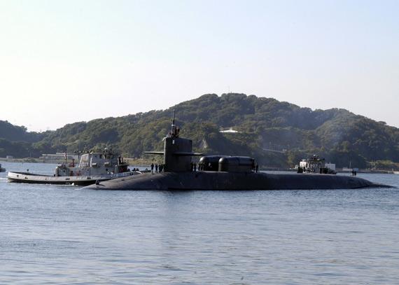 经过改装的美海军俄亥俄级巡航导弹核潜艇