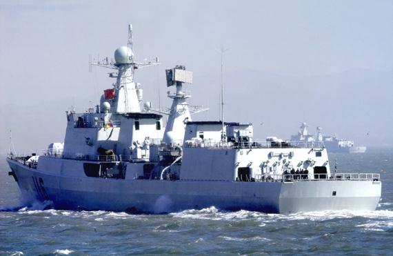 资料图:中国海军051C级116号新型驱逐舰海上作战演练