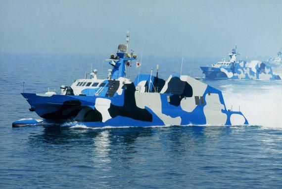 未来海上作战中022可以分8艘一组