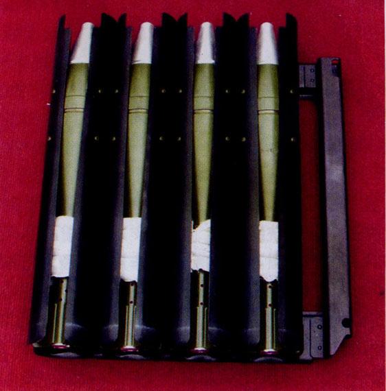SM4型车载速射迫击炮配用的炮弹