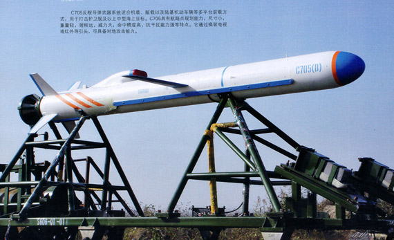 国产C-705反舰导弹实弹