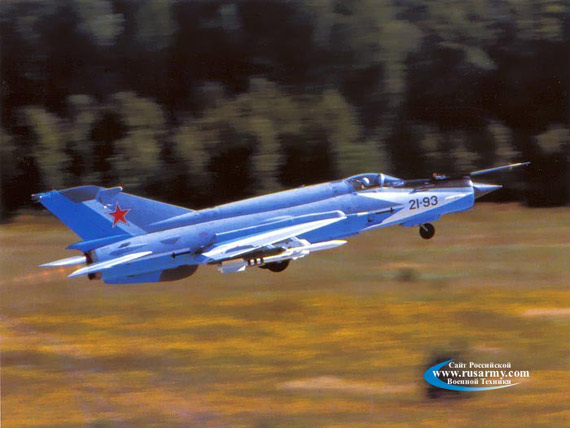 Russian-made MiG -21-93 modified aircraft