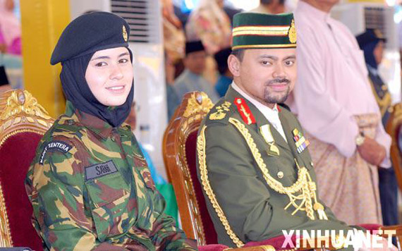 Brunei's Crown Prince and Crown Princess attended than the pull celebrations 。
