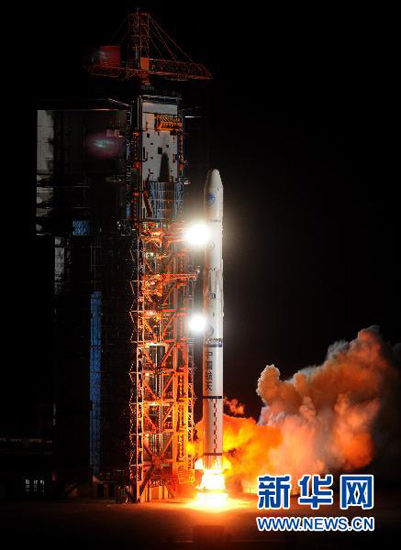 4 月 10 日 4 时 47 points, China's Xichang Satellite Launch Center in the