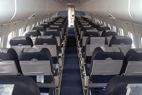 图文:新舟60客机内部座舱展示图
