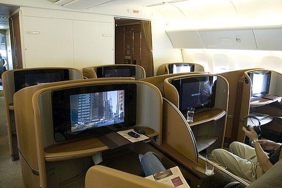 资料图:新加坡航空公司波音777-300er飞机头等舱
