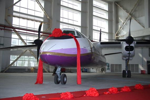 奥凯航空新舟60飞机本月将投入支线航线运营