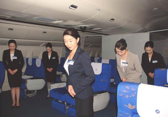 南航2008年新招收日籍乘务员