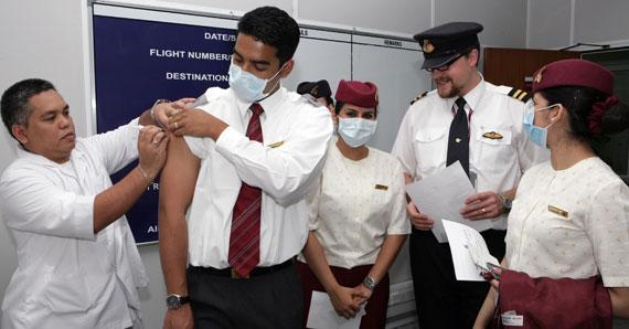 卡塔尔航空还向美国飞往多哈的乘客免费发放口罩