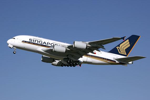 资料图:新加坡航空A380客机-新航将开通新加坡至墨尔本A380航班