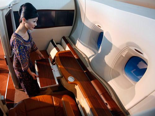 新加坡航空客机客舱座位