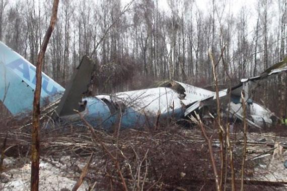 处的森林里紧急迫降; 图-204飞机迫降事故是人为所致