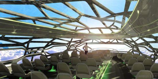 空中客车面向未来的概念客舱白天大全景