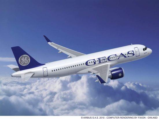 美国通用电气金融航空服务公司(gecas)标识飞机
