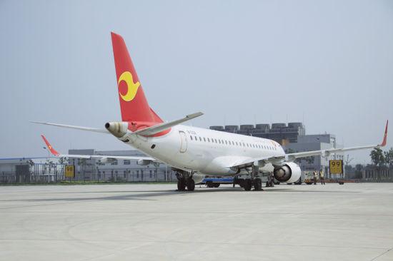 天津航空新开天津经西安至嘉峪关航线