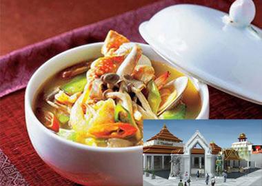 泰国美味传统的酸辣虾汤