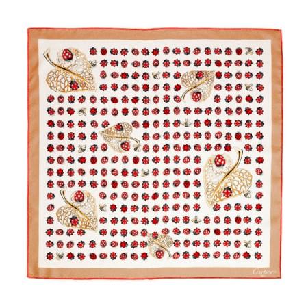 瓢虫图案装饰小方巾,Collection les must®,55 × 55 公分,斜纹织品(100%真丝)