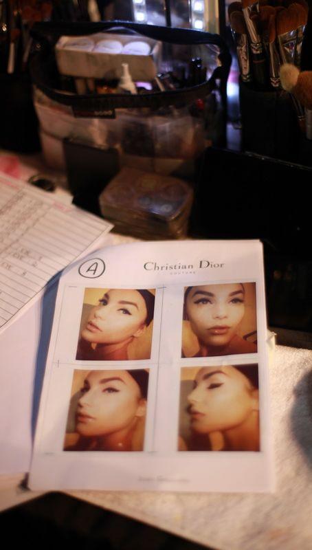 Dior模特的四连拍brochure