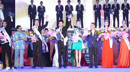 6号游天翼、31号冯磊以及36号宫莹男选手1号娄祖珩、7号祝励之以及14号曲艺获季军