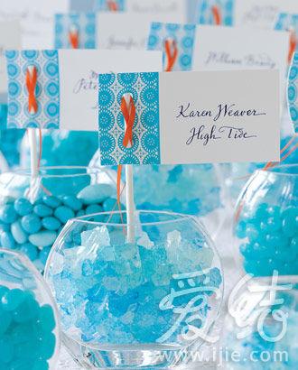 清新的蓝色适合海洋主题婚礼 图片/andrew mccaul