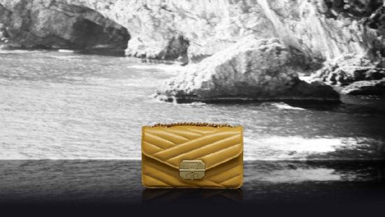 Chanel(香奈儿)推出2012度假系列:黄色斜纹链条包