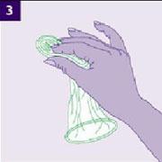 3、用拇指和中指捏住内环