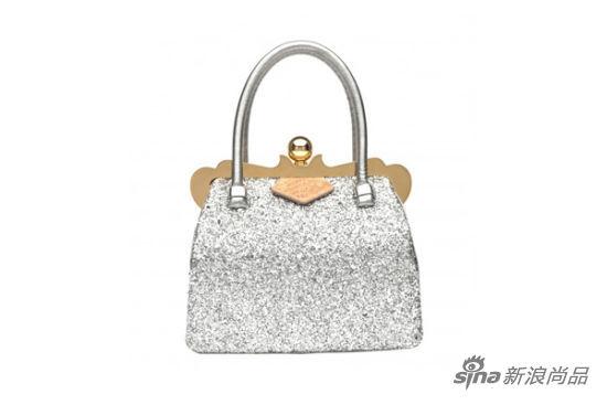 miu情人节特别款:银色亮片手包