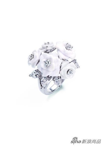 Limelight Garden Party 白色玉髓钻石指环
