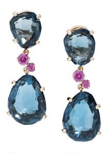 宝曼兰朵Bahia系列蓝宝石耳环