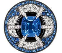 LV 蓝宝石白钻蓝钻镶嵌戒指