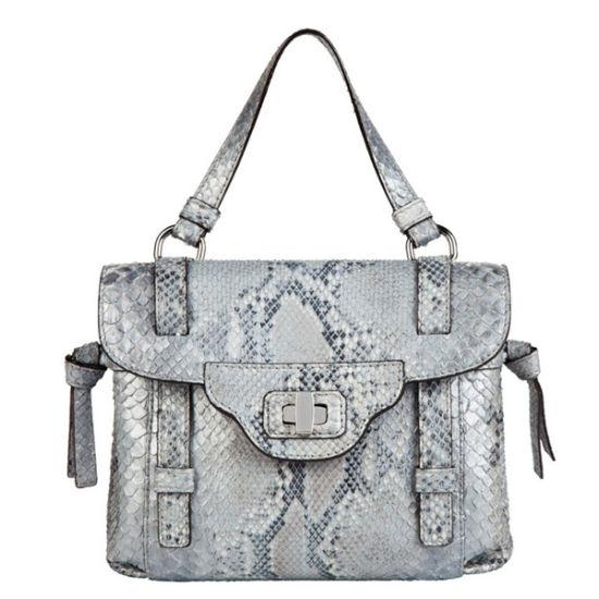 Giorgio Armani 2012春夏新品:银色蛇皮手袋